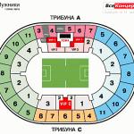 стадион лужники схема 9