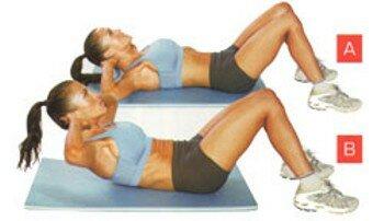 Упражнения для пресса в домашних условиях для девушек